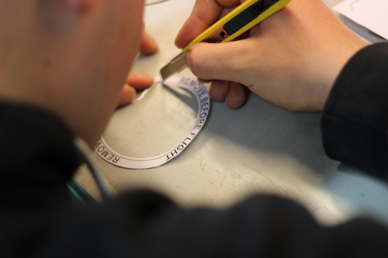 preparing the remove before Flight Sticker
